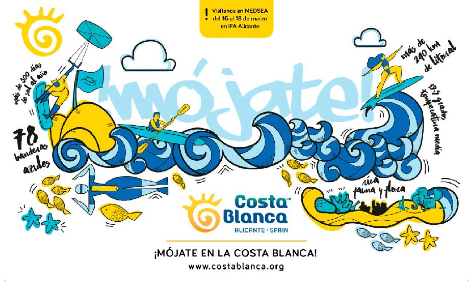 ¡MÓJATE EN LA COSTA BLANCA! Nueva campaña para la feria MEDSEA